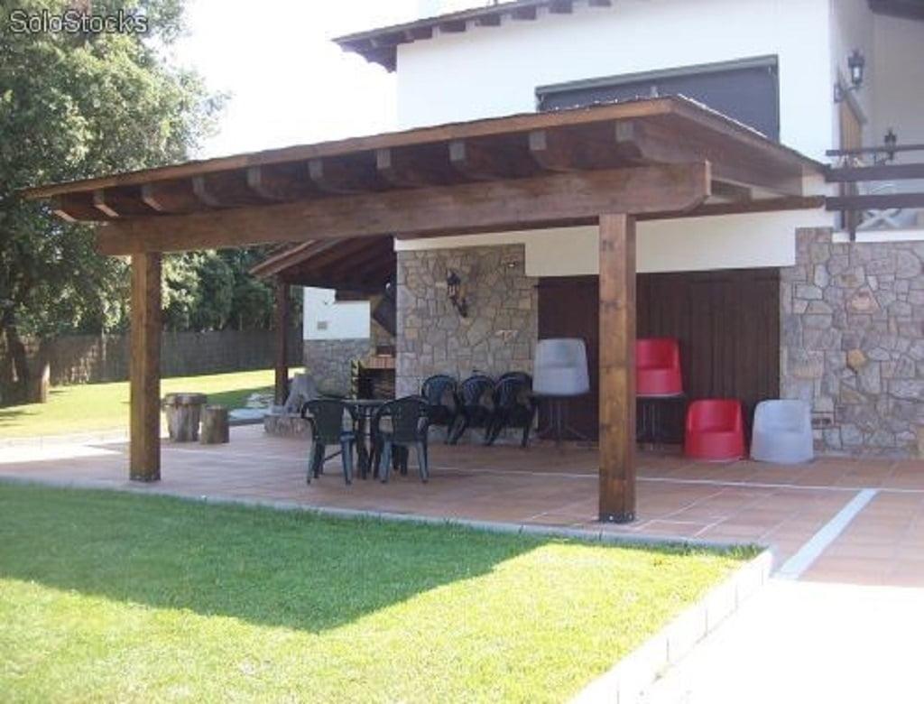 Jardinlux - Porches - Pergolas de madera, porches de madera, tarimas ...